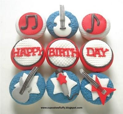 Music Inspired Cupcake Idea from: cupcakesfluffy.blogspot.com