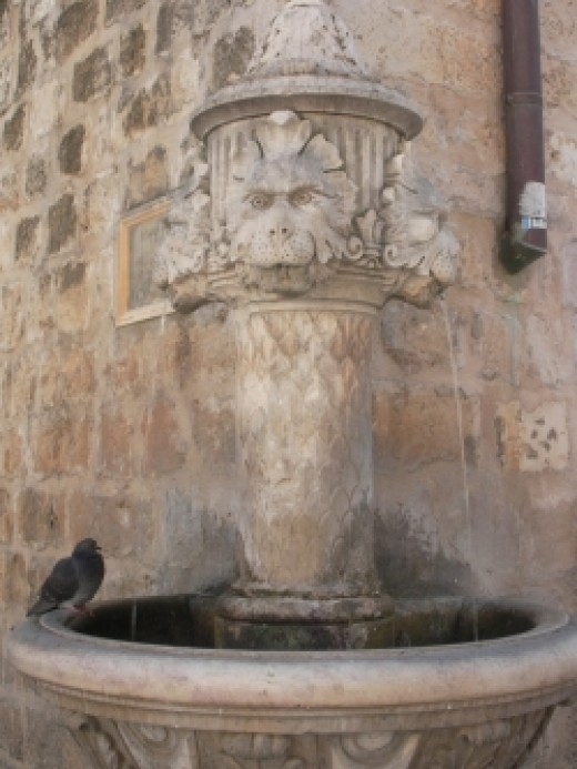 Dubrovnik old town fountain