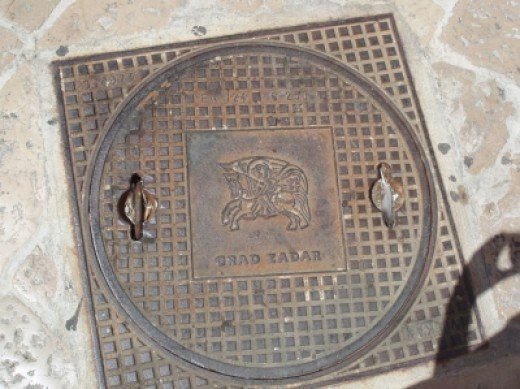 Access cover in Zadar's old town