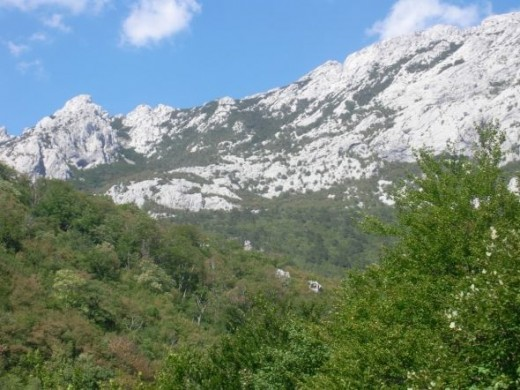 Paklenica National Park mountains