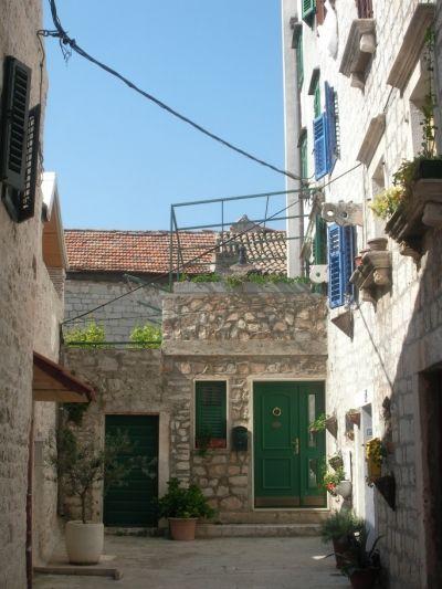 Courtyard in Sibenik's old town