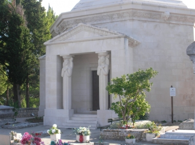 The mausoleum of the Racic family in Cavtat was also designed by Ivan Mestrovic