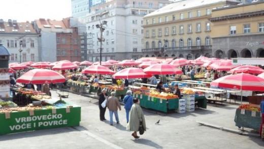 Dolac Zagreb city market