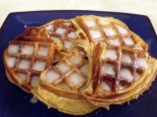 These cinnamon roll waffles were as tasty as they are pretty!