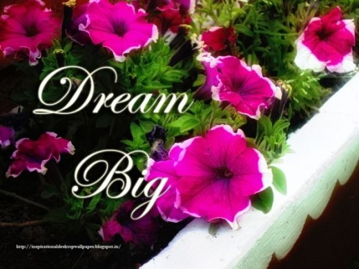 dream big motivational desktop wallpaper