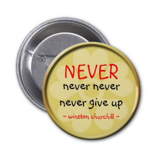 Winston Churchill Quote Button by semas87