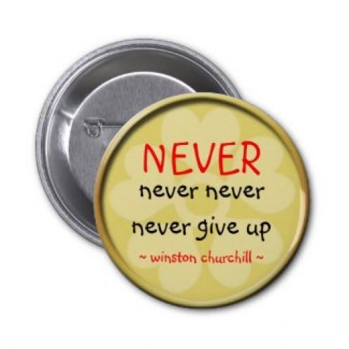 Winston Churchill Quote Button by semas87