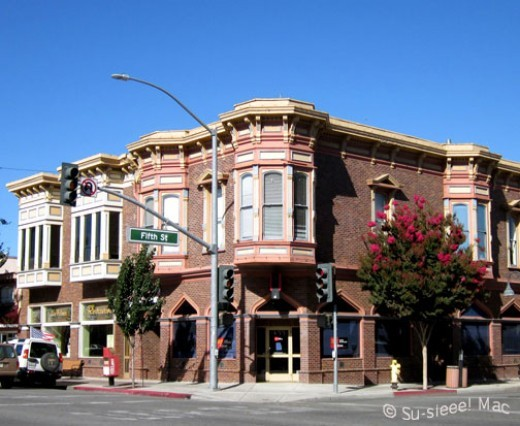 This is one of the oldest commercial buildings in Hollister, constructed around 1874.
