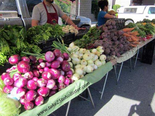 Downtown Hollister Farmer's Market is open every Wednesday afternoon from May to September.