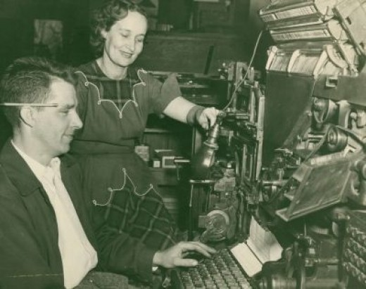 Fritz Was the Chief Linotype Operator, but Marjorie Could Run the Monster Also