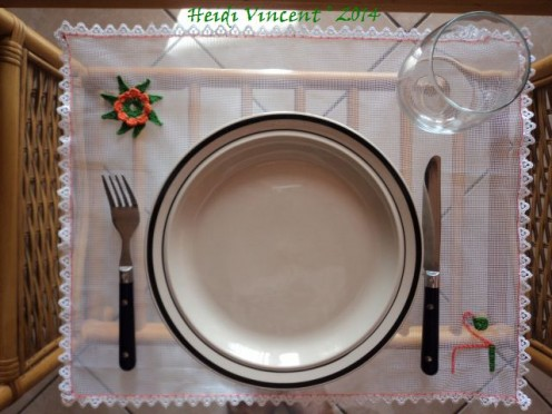 Sheer Tulle Placemat on Table - Heidi Vincent - Catholic Contributor - FreshStart7