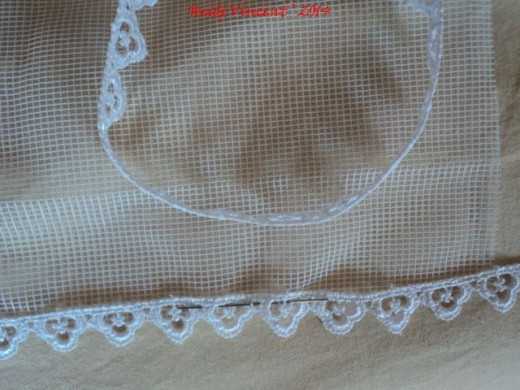 White Tulle - Lace Edging