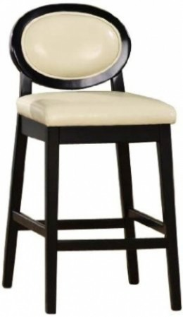 Cream Leather Bar Stools