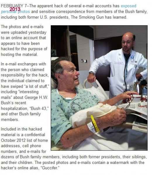George Bush Sr in hospital. His health became critical so that the family started considering a eulogy for his funeral.
