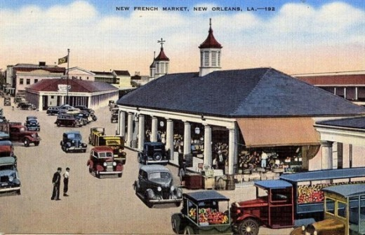 New Orleans French Market circa pre 1950