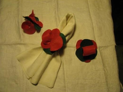 Felt Poinsettia Napkin Rings