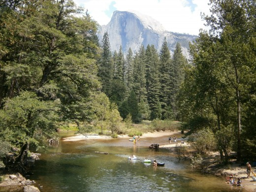 View of Half Dome in Yosemite Valley. Shot taken from Sentinel Bridge - July 2012