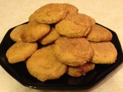 Voila!  Allow Pumpkin Snickerdoodle Cookies to Cool and Dig In!