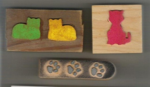 Just pick out the ones you like and glue them to a piece of scrap wood or other recycled block.