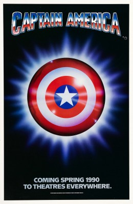 This poster promoted the upcoming release of Captain America.  Instead, after a long delay,  it went direct to video.