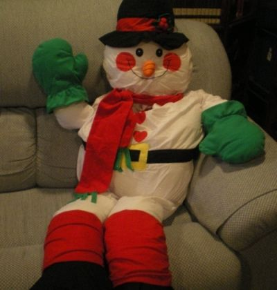 Meet Our Mr. Snowman, He Has Become Part of the Family