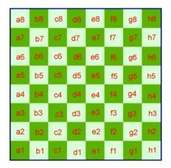 The names of the squares