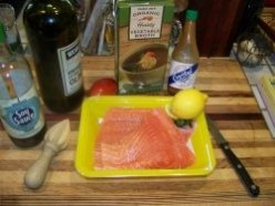 Salmon - Grilled with Lemon & EVOO & . . .