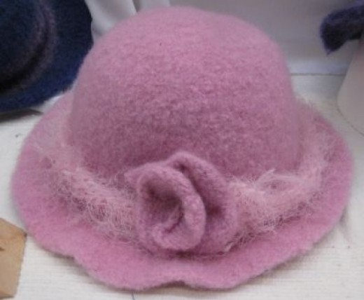 Knitted Hat After Felting - Ta Da!