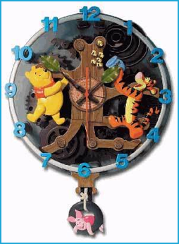 Pooh Animated Talking Wall Clock