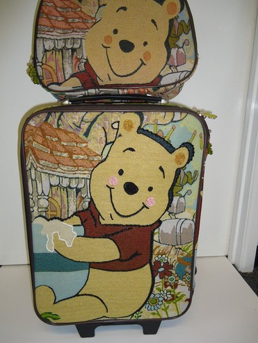 Winnie the Pooh Luggage Bag Baggage Trolley Roller Set