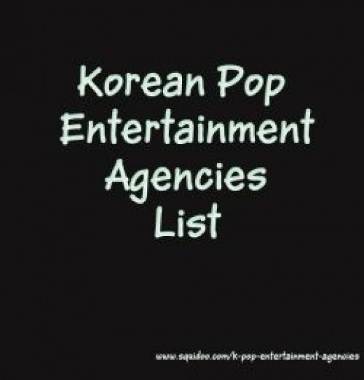 List of KPop Entertainment Agencies