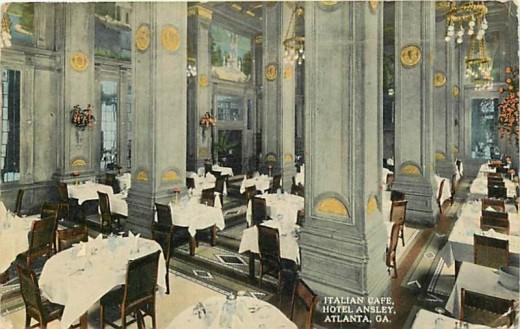Italian Hotel Ansley hotel postcard.