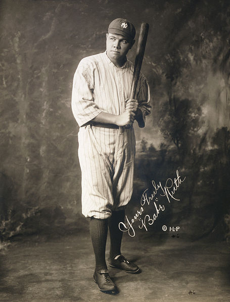 """GEORGE HERMAN RUTH """"THE BABE"""" ( Oral Cancer )"""