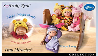 """Bedtime In The Hundred Acre Wood"" Baby Dolls"