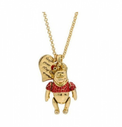 Winnie the Pooh Crystal Necklace