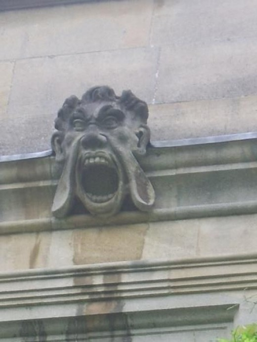 I've talked a fair bit about the various gargoyles and grotesques that can be found around Oxford, and thought I'd share this one in particular: I found this inside an Oxford college on my first trip to the city.