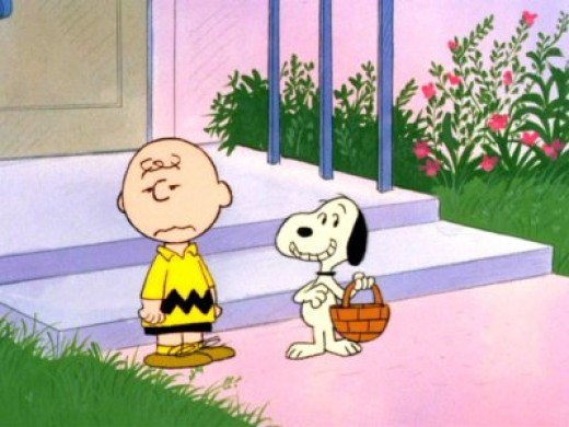 Charlie Brown and Snoopy Easter