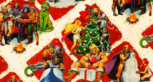 1980s Masters of the Universe Christmas Wallpaper