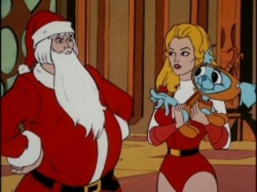 Prince Adam as Santa Claus