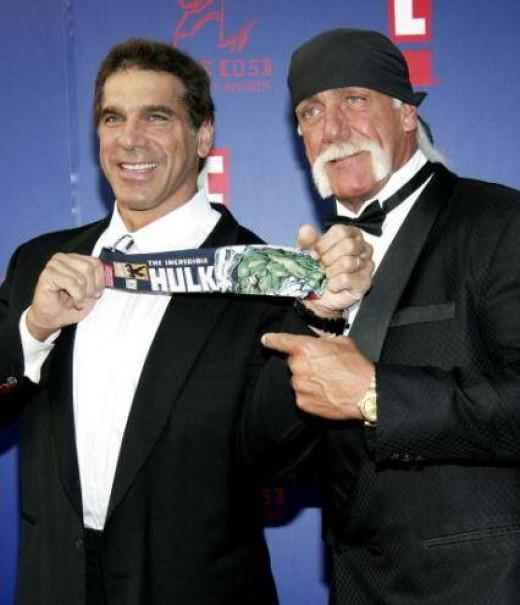 Lou Ferrigno with Hulk Hogan
