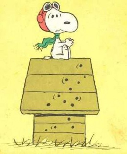 Snoopy as the WWI Flying Ace