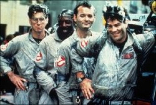 Original Ghostbusters team circa 1984