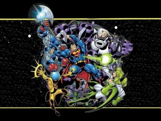 Superman vs the Fatal Five