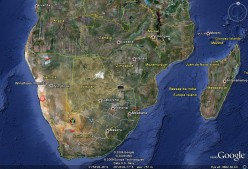 The Jewell of Africa...    Courtesy Google Earth. Notice the oldest desert in the whole wide world(Brown/Yellowish next to coast)