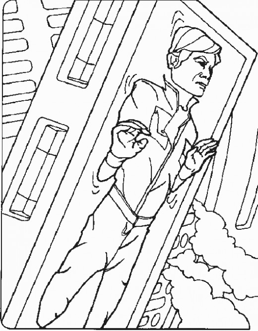 Han Solo in Carbonite Coloring Page