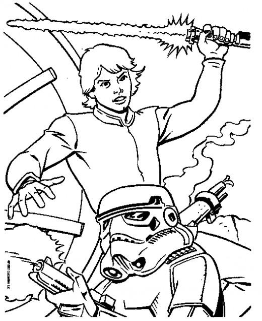Luke Skywalker Fighting a Stormtrooper