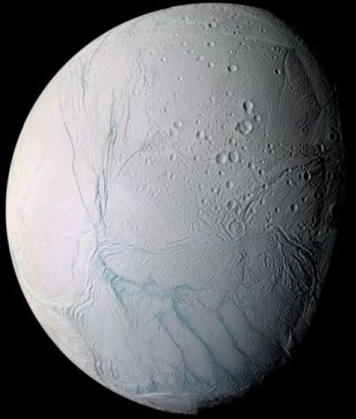 Enceladus (enhanced color) Credit:NASA