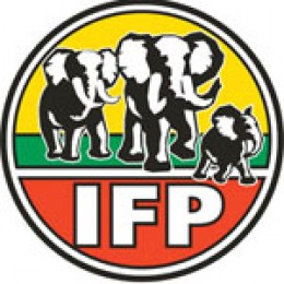 The logo of the Inkatha Freedom Party (IFP)
