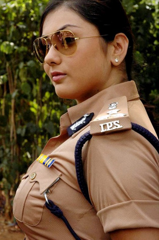 Busty Namitha in police uniform