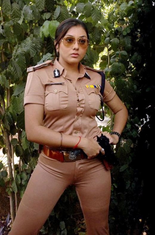 Namitha in police costume